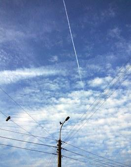 Sky, Wires, Energetics, Pole, Emptiness