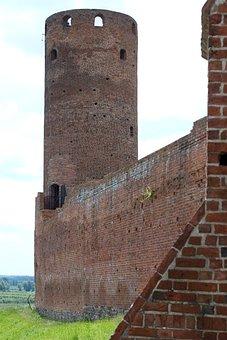 Castle, Tower, Czersk, Stone Wall, Walls, Fortification