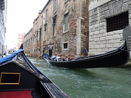 Venice, Taly, Gondola, Water, Boating, Gondelaar