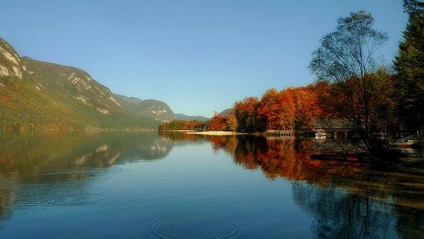 Lake Bohinj, Slovenia, Landscape, Scenic, Fall, Autumn