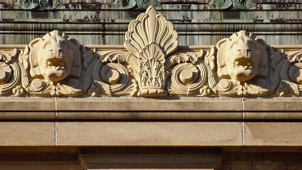 Gargoyles, Lions, Architecture, Building, Sculpture