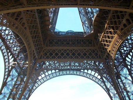 Eiffel Tower, Paris, Uplight
