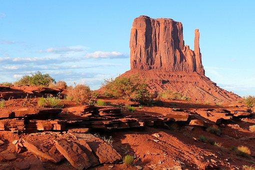 Monument Valley, Utah, Usa, Red, Rocks, Desert