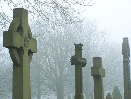 Cemetery, Grave, Graveyard, Tombstone, Cross
