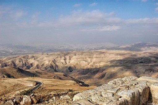 Jordan, Landscape, Scenic, Desert, Mountains, Ravine