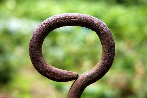 Iron, Iron Eye, Garden, Rusty