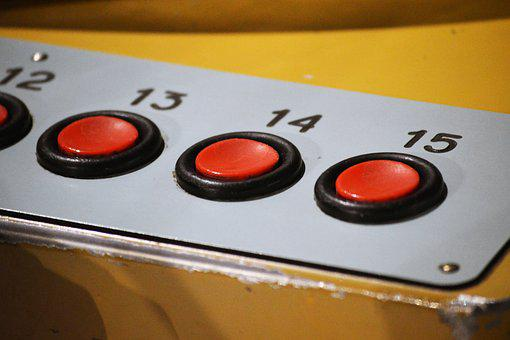 Buttons, Red, Console, Arcade, Game, Numbers, Old
