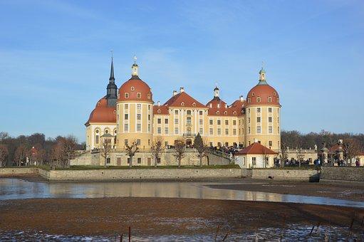 Castle, Moritz Castle, Fairy Tales, Cinderella