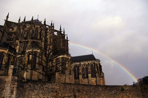 Cathedral, France, Le Mans, Rainbow