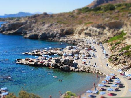 Greece, Beach, Stone Beach, Holiday, Booked, Cliffs