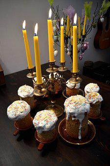 Easter, Cake, Light, Glaze, Sprinkles, Yellow