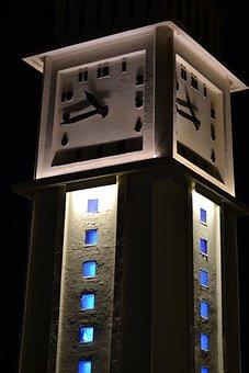 Clock, Night, Elizabeth, Pendulum