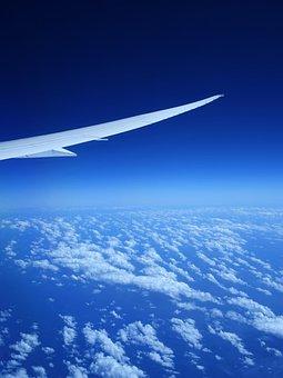 Airplane, Wing, Blue Sky, Cloud, Plane, Flight, Jet