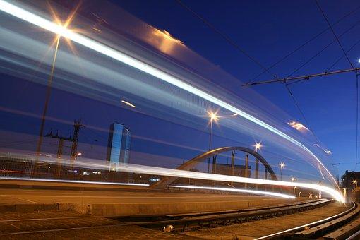 Bridge, Night, Lights, Lighting, London, Building