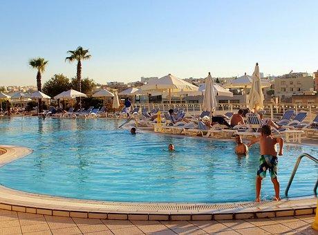 Malta, Intercontinental Hotel, Port City, Sky, Water