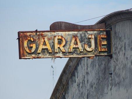 Garage, Poster, Sign, Mold, Montevideo