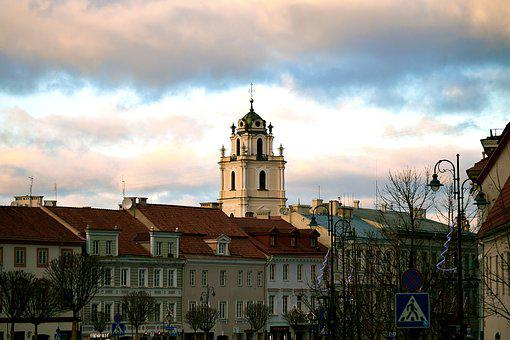 Vilnius, Lithuania, Europe, City, Old Town, Old, Town