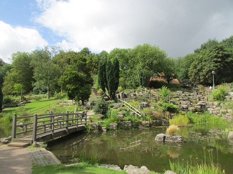 Jappanese Garden, Lake, Nature, England, Preston