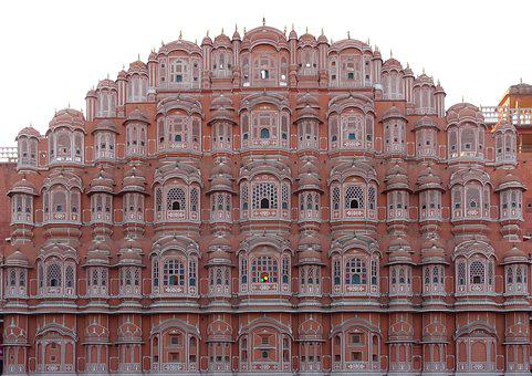 Palace Of Winds, India, Jaipur, Rajasthan, Facade