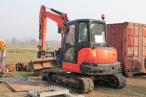 Excavators, Site, Construction Abbruchzange