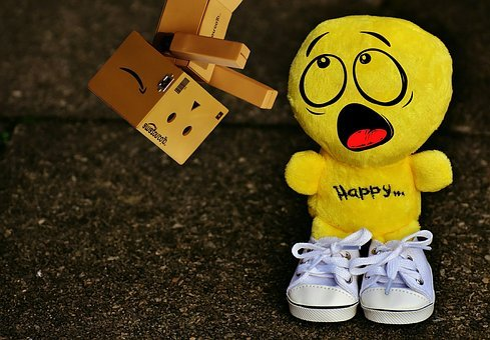Smiley, Horrified, Amazed, Danbo, Figure, Sneakers