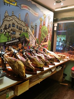 Barcelona, Jamón, Ham, Iberian, Culinary, Shop, Tourist