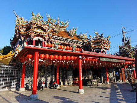 Taiwan, Chinese Temple, Chinese, Religion, Traditional