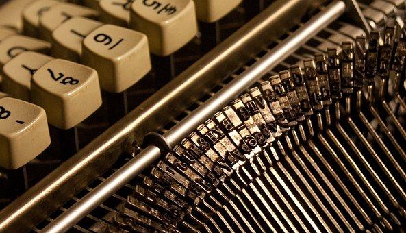 Typewriter, Keys, Letters, Numbers, Type, Old, Vintage