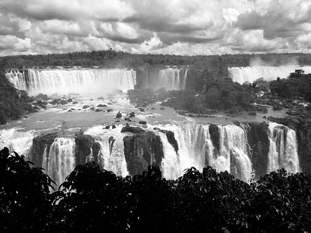Waterfall, Water, Fall, River, Wild, Outdoor, Iguassu