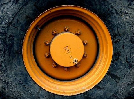 Wheel, Wheel Bearing, Gland, Rim, Excavators, Roll