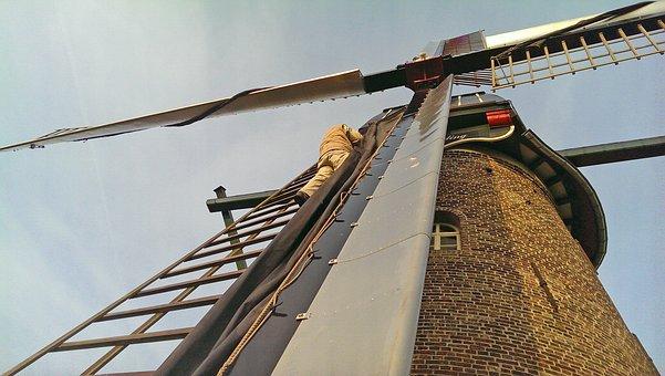 Mill, Wicks, Wind Mill, Stellingmolen, Netherlands