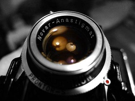 Camera, Lens, Analog, Old, Vintage, Antique, Photograph