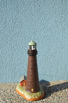 Brown Lighthouse, Lighthouse Statue, Architecture