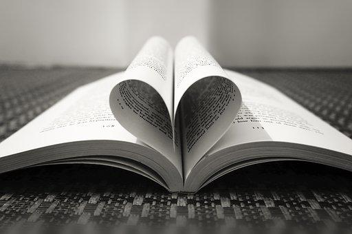 Book Pages, Pages With Love, Love Shape, Book, Page