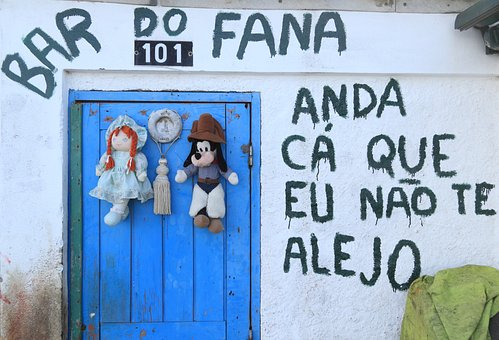 Portugal, Lisbon, Trafaria, Door, Decoration, Bar