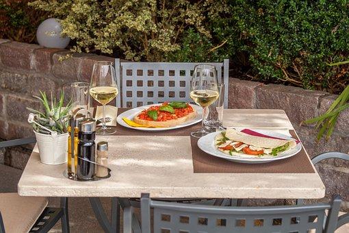 Wine, Eat, Restaurant, Gourmet, Food, Table, Drink