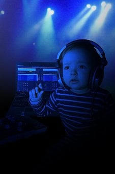 Child, Baby, Music, Listen, New Year's Eve, Sound