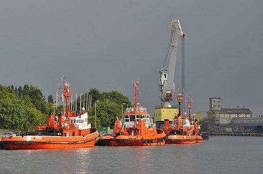 Ship, Tracker, Port, Sea