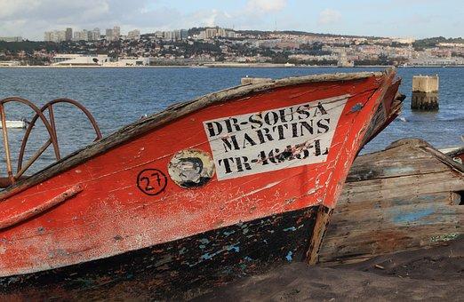 Portugal, Lisbon, Trafaria, Boat, Fishing, Fishingboat