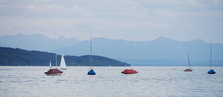Starnberger See, Starnberg, Lake, Boot, Landscape
