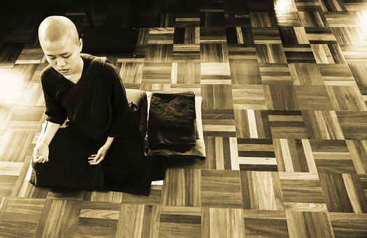 Theravada Buddhism, Meditation, Nun Meditate, Theravada