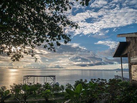 Una Una, Togean, Island, Sunset, Dive Centre