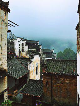 Scenery, Wuyuan, Badge Type, Roof, Old Town