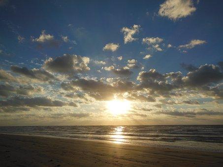Sunrise, Beach, Texas Coast