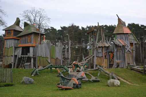 Castle, Children's Playground, Tower, Towers