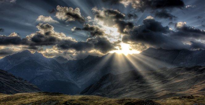 Mountain, Alps, Sky, Cloudy Sky, Clouds, Cloudy