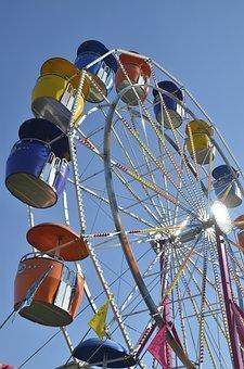 Wheel, Fair, Colors, Amusement Park, London, Ontario