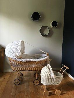 Cradle, Room, Baby, Landau, Love, Child, Doll, Mother
