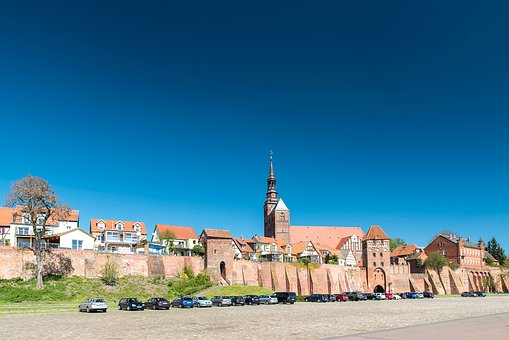 Tangermünde, Hanseatic City, Historic Center, Port