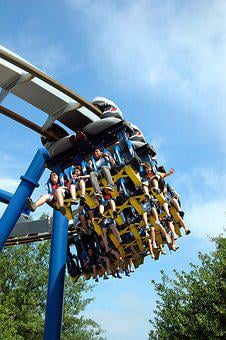 Roller Coaster, People, Ride, Park, Fun, Amusement